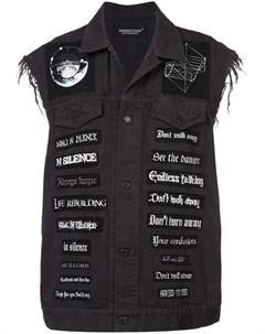 Undercover джинсовая жилетка с нашивками Undercover