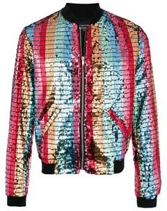 Garcons infideles куртка бомбер в полоску с пайетками Garcons  infideles