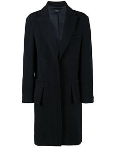 Curieux однобортное пальто gambit Curieux