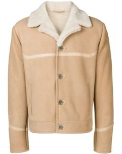 Al duca d aosta 1902 куртка с воротником из овечьей шерсти нейтральные цвета Al duca d'aosta 1902