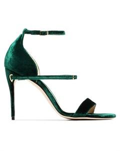 Jennifer chamandi бархатные сандалии с ремешками Jennifer chamandi