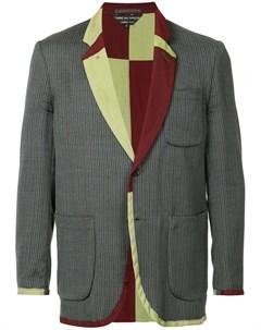 Comme des garcons vintage пиджак с контрастной отделкой и воротником Comme des garçons vintage