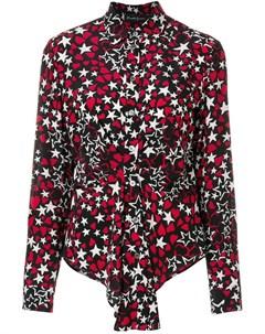 Rossella jardini рубашка с рисунком из сердец и звезд 44 черный Rossella jardini