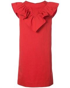 Atlantique ascoli платье с декором из оборок 2 красный Atlantique ascoli