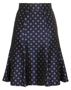 N duo юбка в горох с завышенной талией и цветочным принтом N duo