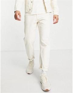 Свободные джинсы цвета экрю Tom tailor