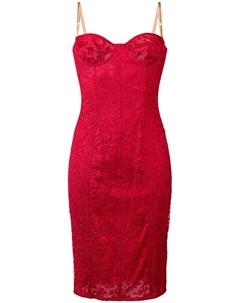 Dolce gabbana vintage платье жаккардовое на бретельках Dolce & gabbana vintage