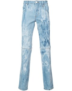 Icosae джинсы с панельным дизайном и мраморным эффектом Icosae
