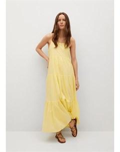 Платье с воланом хлопок Cotton Mango