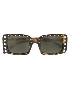 n?21 солнцезащитные очки в прямоугольной оправе с декором No21