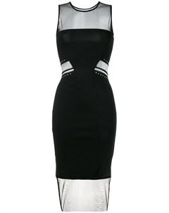 Gaelle bonheur платье с прозрачной вставкой Gaelle bonheur