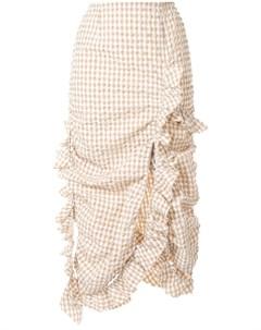 Irene юбка в клетку гингем с оборками Irene
