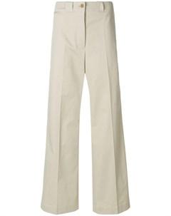 burberry широкие брюки строгого кроя нейтральные цвета Burberry