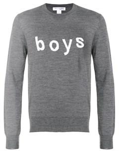 Comme des garcons shirt boys свитер с длинными рукавами с принтом Comme des garçons shirt boys