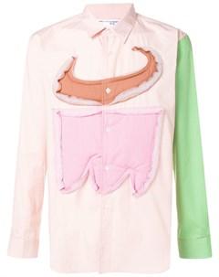 Comme des garcons shirt boys рубашка дизайна колор блок Comme des garçons shirt boys