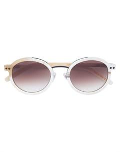 Blyszak тонированные солнцезащитные очки в округлой оправе нейтральные цвета Blyszak
