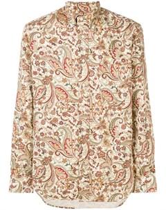 Gitman vintage рубашка с узором пейсли нейтральные цвета Gitman vintage