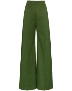 Vika gazinskaya расклешенные брюки 40 зеленый Vika gazinskaya