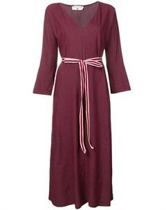 Danielapi платье в полоску с поясом Danielapi
