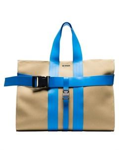 sunnei сумка мессенджер на контрастном ремне с пряжкой нейтральные цвета Sunnei