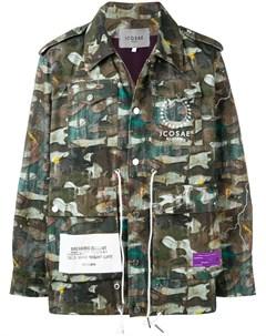 Icosae куртка с камуфляжным принтом Icosae