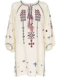 Vita kin платье мини с вышивкой нейтральные цвета Vita kin
