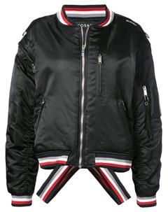 Icosae куртка бомбер с контрастными полосками m черный Icosae