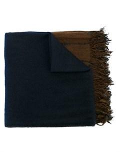 suzusan полосатый шарф с необработанными концами один размер синий Suzusan