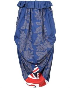 Comme des garcons vintage юбка с драпировкой и цветочным принтом Comme des garçons vintage