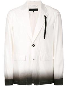 Ann demeulemeester grise пиджак рубашка с эффектом градиента Ann demeulemeester grise