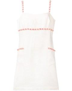 Chanel vintage платье с цветочной аппликацией 1990 х годов нейтральные цвета Chanel vintage