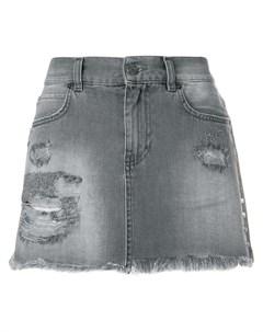 Gaelle bonheur джинсовая мини юбка с прорехами Gaelle bonheur