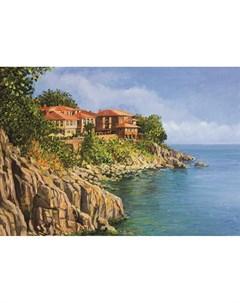 Фотообои Болгарское побережье живопись 180х127см Decoretto