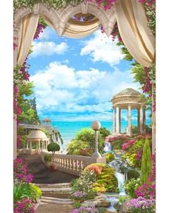 Фотообои Райский пейзаж 180х254см Decoretto