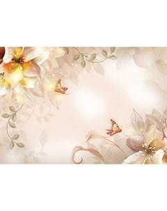 Фотообои Золотые лилии 360х254см Decoretto