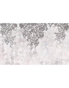 Фотообои Листья в серых тонах 360х254см Decoretto