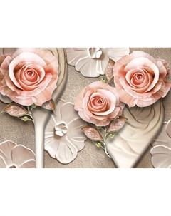 Фотообои Фарфоровые розы 360х254см Decoretto