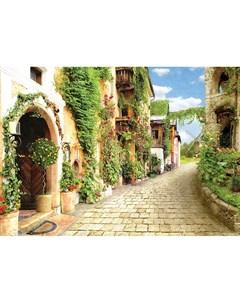 Фотообои Зеленые улочки 360х254см Decoretto