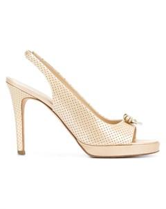 Chanel vintage туфли с открытым носком с ремешком на шиколотке нейтральные цвета Chanel vintage