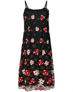 Comme des garcons vintage прозрачное платье комбинация с вышивкой Comme des garçons vintage