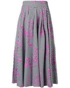 Gaelle bonheur платье с узором гингем Gaelle bonheur