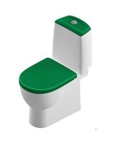 Унитаз компакт Best Color Green SL DM с сиденьем микролифт Clip UP BSTSLCC09130522 SL900308 Sanita luxe