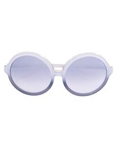 n?21 массивные круглые солнцезащитные очки No21