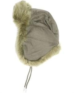 Charlotte simone зимняя шапка с меховой отделкой один размер золотистый Charlotte simone