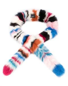Charlotte simone полосатый шарф из лисьего меха один размер разноцветный Charlotte simone