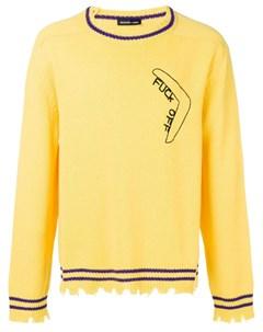 Riccardo comi свитер с бахромой m желтый Riccardo comi
