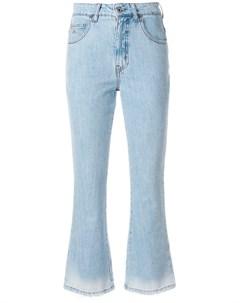 Attico укороченные джинсы 26 синий Attico