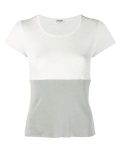 Chanel vintage футболка с круглым вырезом нейтральные цвета Chanel vintage