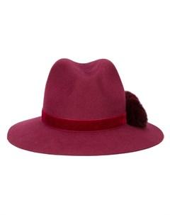 Yosuzi шляпа федора valentina с помпоном Yosuzi