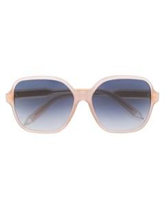 victoria beckham солнцезащитные очки с массивной оправой нейтральные цвета Victoria beckham